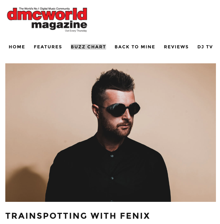 DMC World Trainspotting with DJ Fenix. Dance Music PR. Online PR, PR Agency.